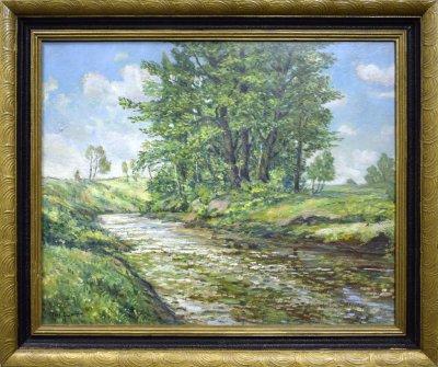 Krajina s řekou